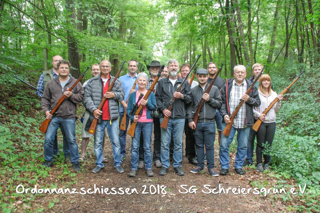 Teilnehmer Ordonannzschiessen 2018